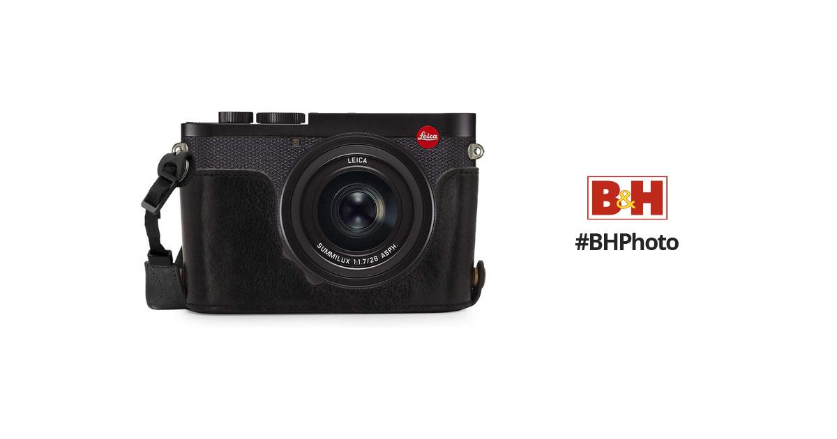 MegaGear Leica Q2 Ever Ready Genuine Leather Camera Half Case (Black)