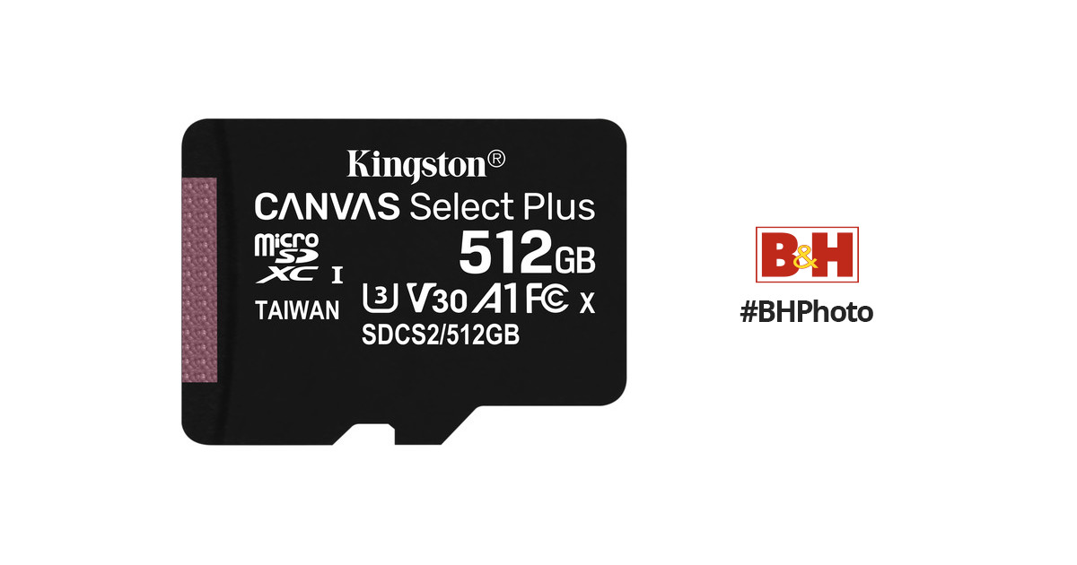 100MBs Works with Kingston Kingston 512GB Asus P750 MicroSDXC Canvas Select Plus Card Verified by SanFlash.