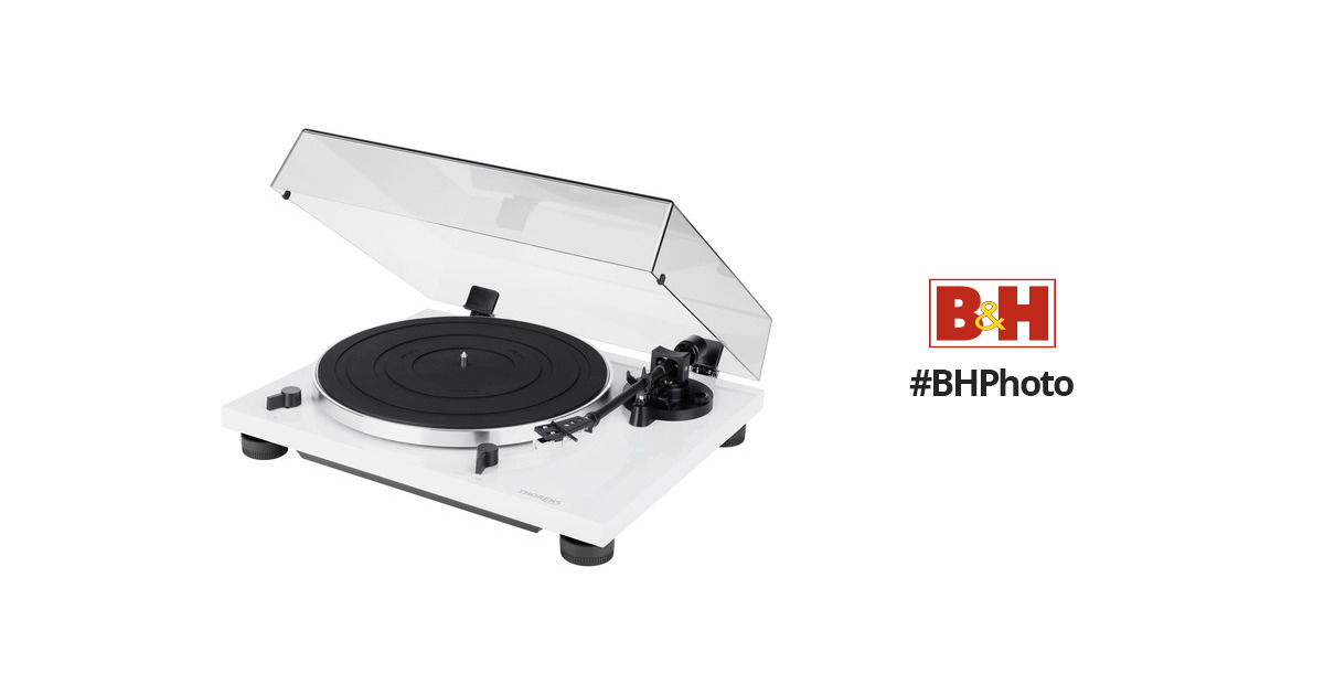THORENS TD 201 Manual Two-Speed Turntable with Built-In Preamp (High Gloss White)