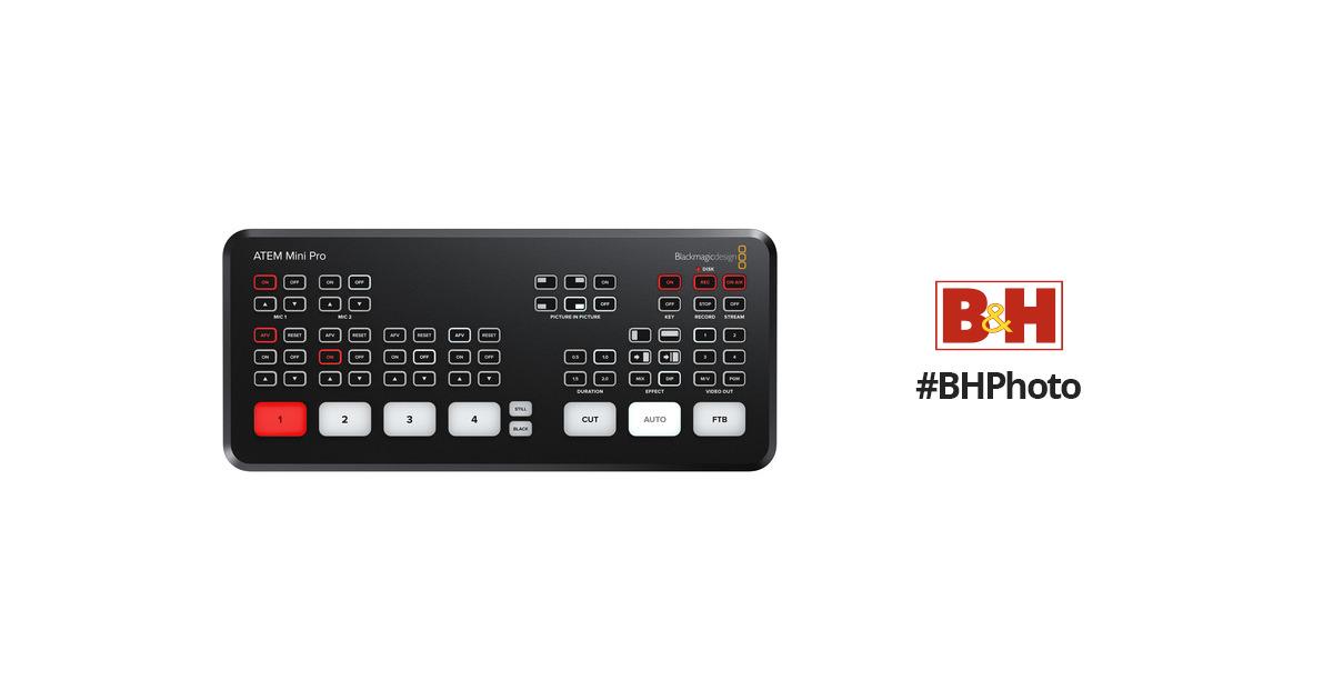 Blackmagic Design Atem Mini Pro Hdmi Live Stream Switcher Flipboard