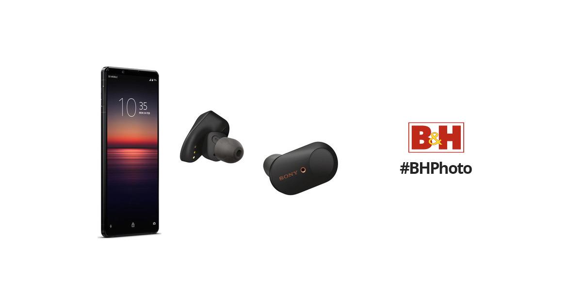 Sony Xperia 1 II Dual-SIM 256GB Smartphone with WF-1000XM3 Headphones Kit (Black)