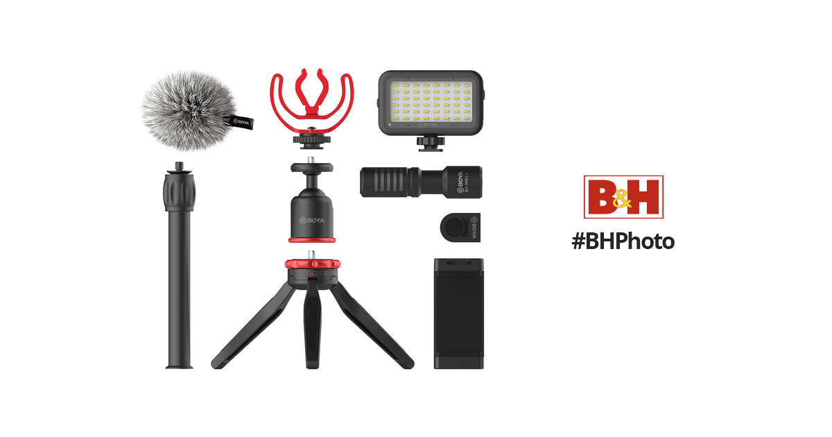 BOYA BY-VG350 Smartphone Vlogger Kit Plus with BY-MM1+ BY-VG350