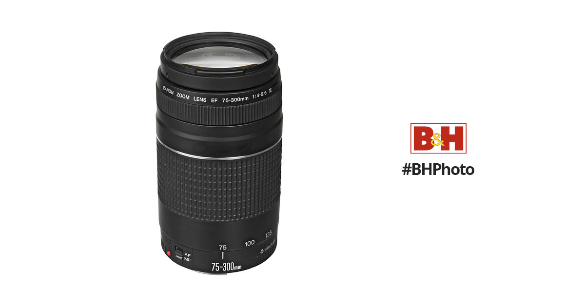 Canon EF 75-300mm f/4-5.6 III Lens 6473A003 B&H Photo Video