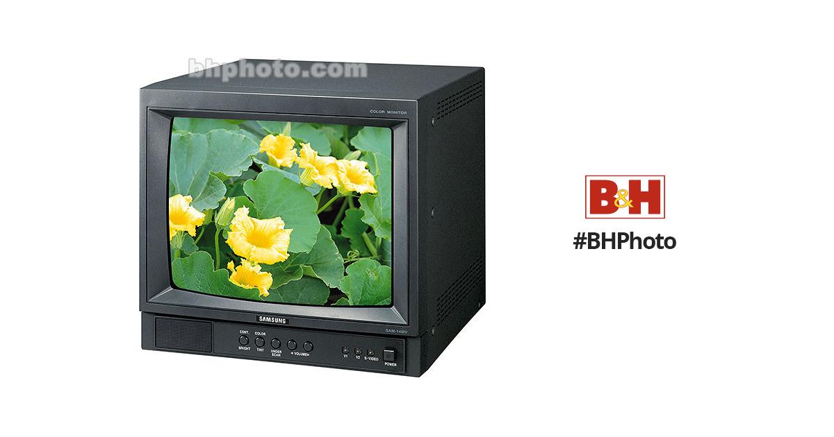 Samsung Sam 14m 14 Inch Color Cctv Monitor Sam14m B Amp H Photo