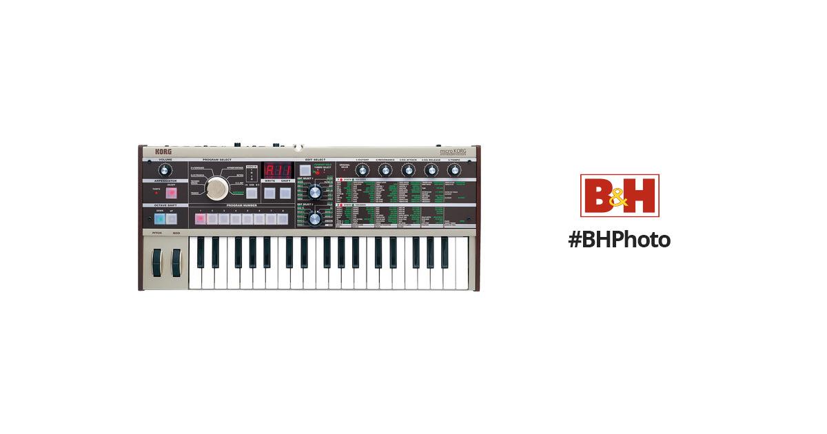 korg microkorg 37 key synthesizer and vocoder microkorg b h