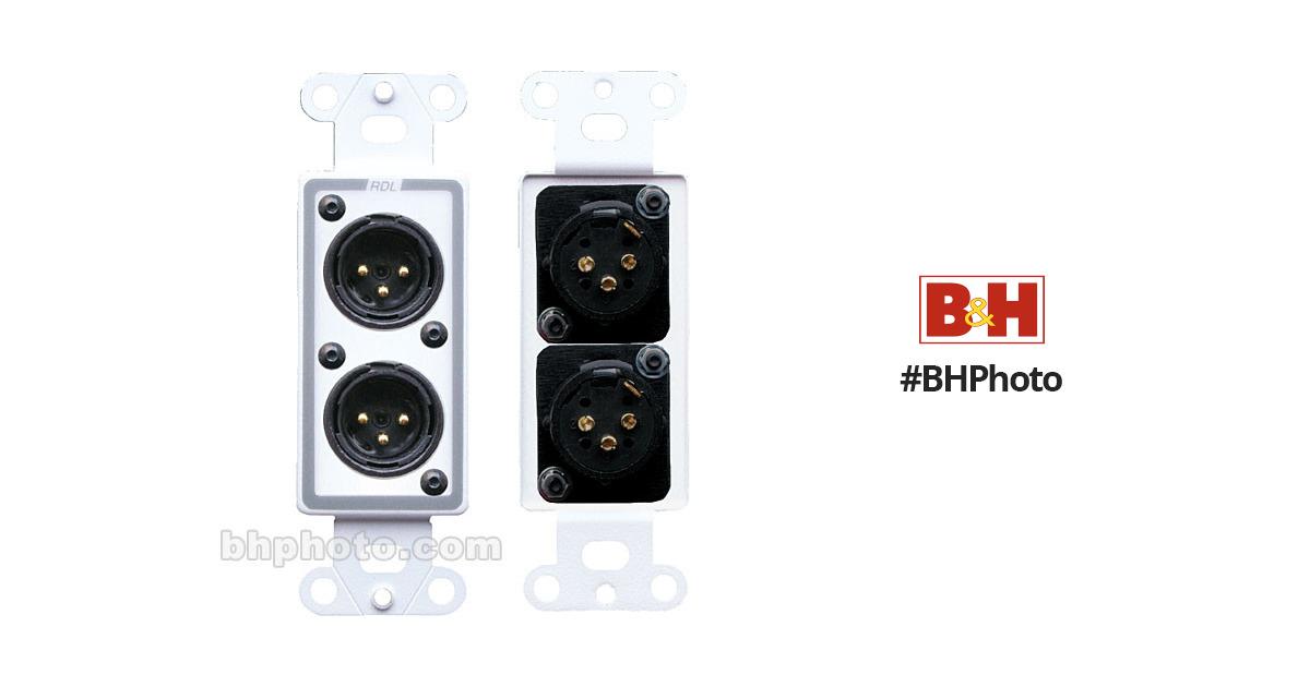 Rdl D Xlr2m Decora Wall Plate With Dual Xlr Male D Xlr2m B Amp H