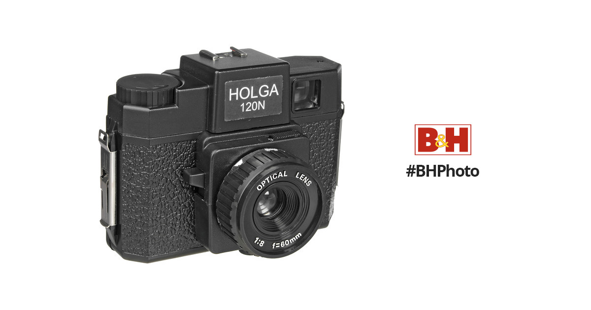 Holga 120N Medium Format Film Camera (Black) 144120 B&H Photo