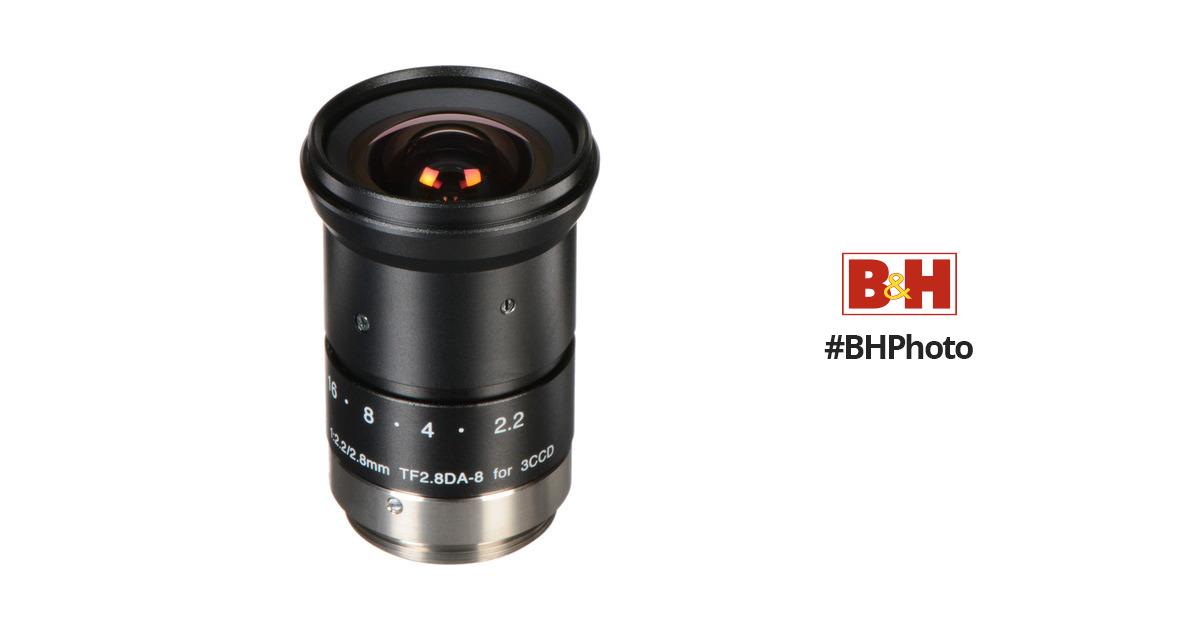 Fujinon TF2 8DA-8 1/3-Inch CCD 2 8mm, f/2 2 Fixed Focal Length Manual Iris  C-Mount Lens for Machine Vision and Robotics