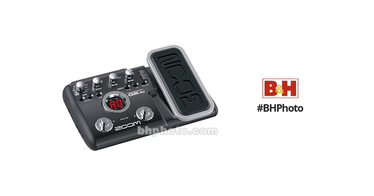 zoom g2 1u guitar multi effects pedal w usb interface g2 1u b h. Black Bedroom Furniture Sets. Home Design Ideas
