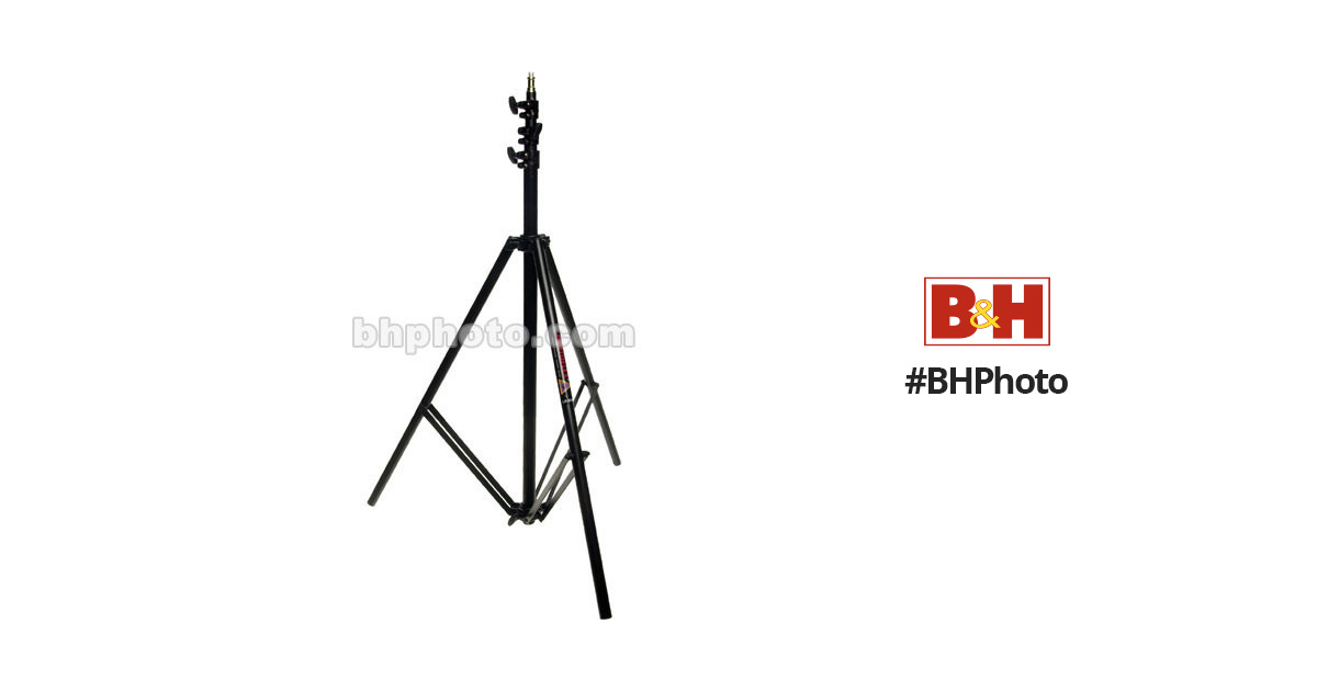 4 Sections with 3 Risers Black Anodized. Photoflex Light Weight 7.7 Lightstand with 5//8 Mounting Stud