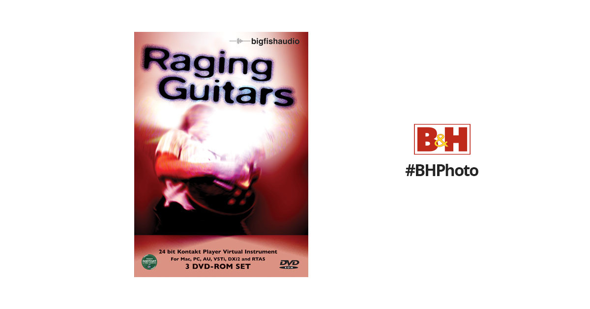 Big Fish Audio Raging Guitars - Virtual Guitar Instrument with KONTAKT  Player for Mac OS X and Windows XP