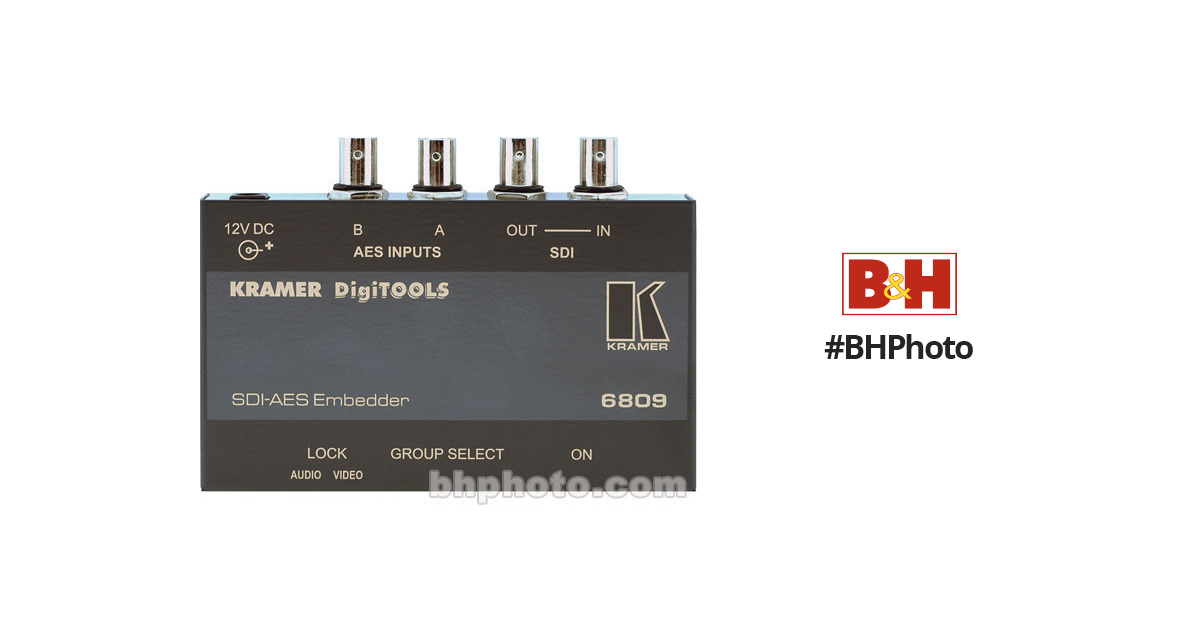Audio For Video Video Production & Editing Kramer 6809 Sdi Aes Embedder Digitools