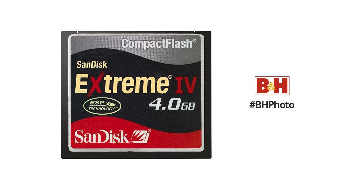 SanDisk 4GB Extreme IV CompactFlash Card