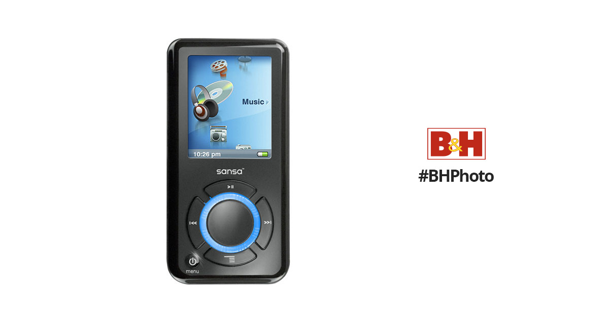 sandisk sansa e280 8gb portable digital music mp3 sdmx4 8192 a70 rh bhphotovideo com Sansa MP3 Player Battery Replacement Sansa MP3 Player Troubleshooting