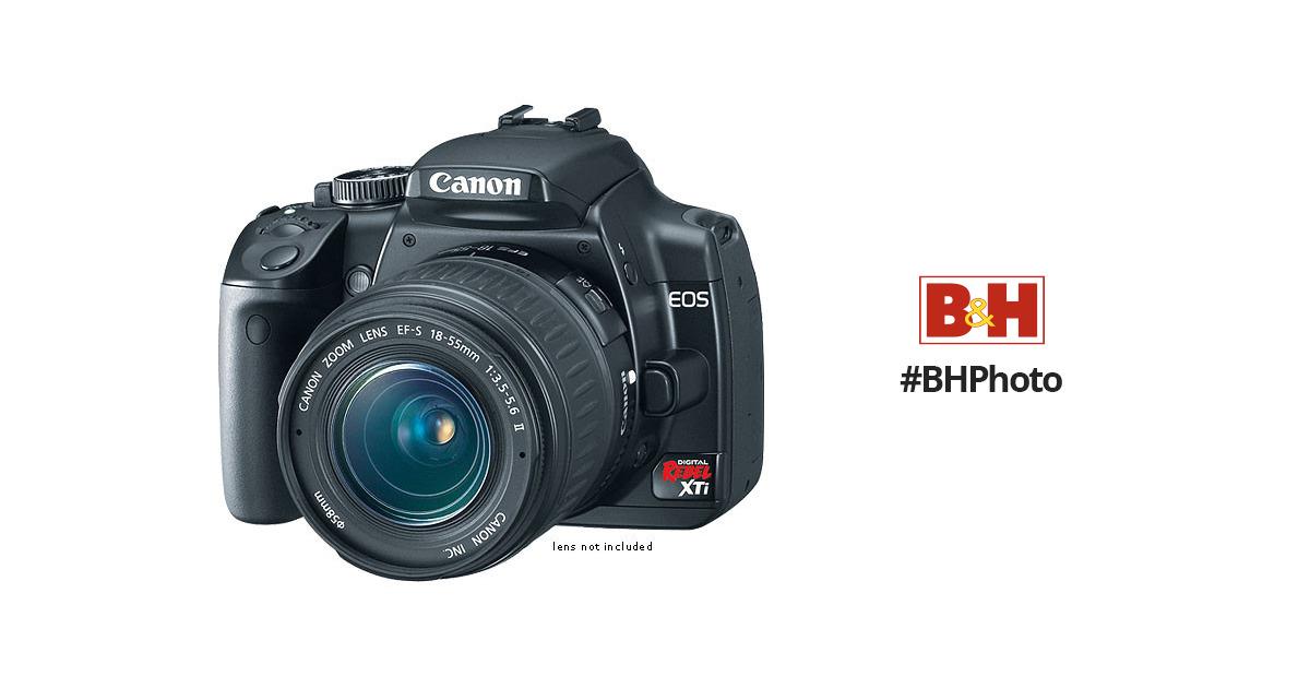 Canon EOS Digital Rebel XTi (a k a  400D) 10 1 Megapixel, SLR, Digital  Camera Body (Black)