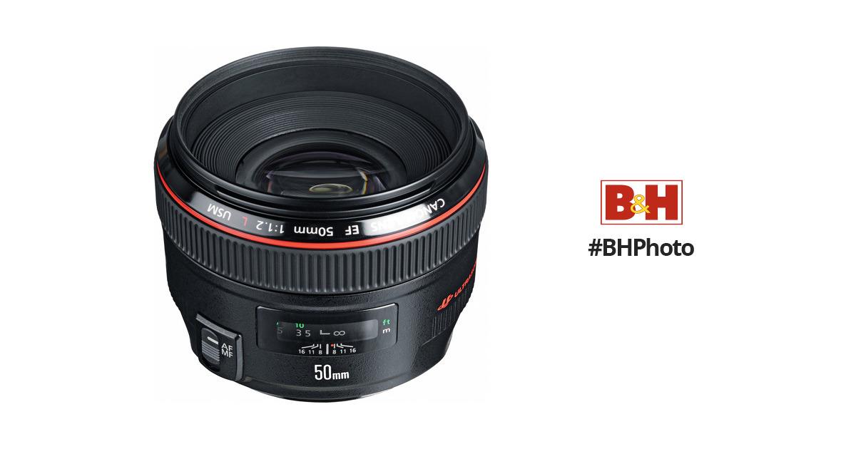 c5faee1e398c Canon EF 50mm f 1.2L USM Lens 1257B002 B H Photo Video