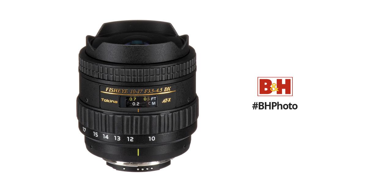 Tokina 10-17mm f/3.5-4.5 AT-X 107 DX AF Fisheye Lens ATXAF107DXN
