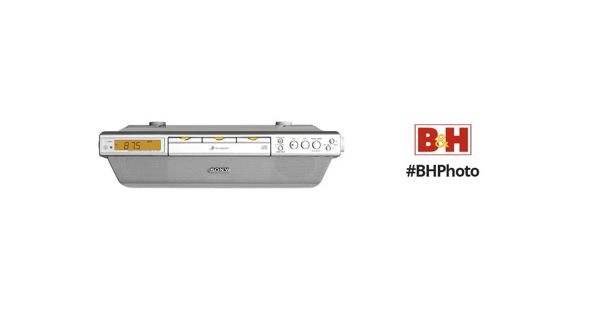 Sony Icf Cdk70 Under Cabinet Kitchen Cd Clock Radio