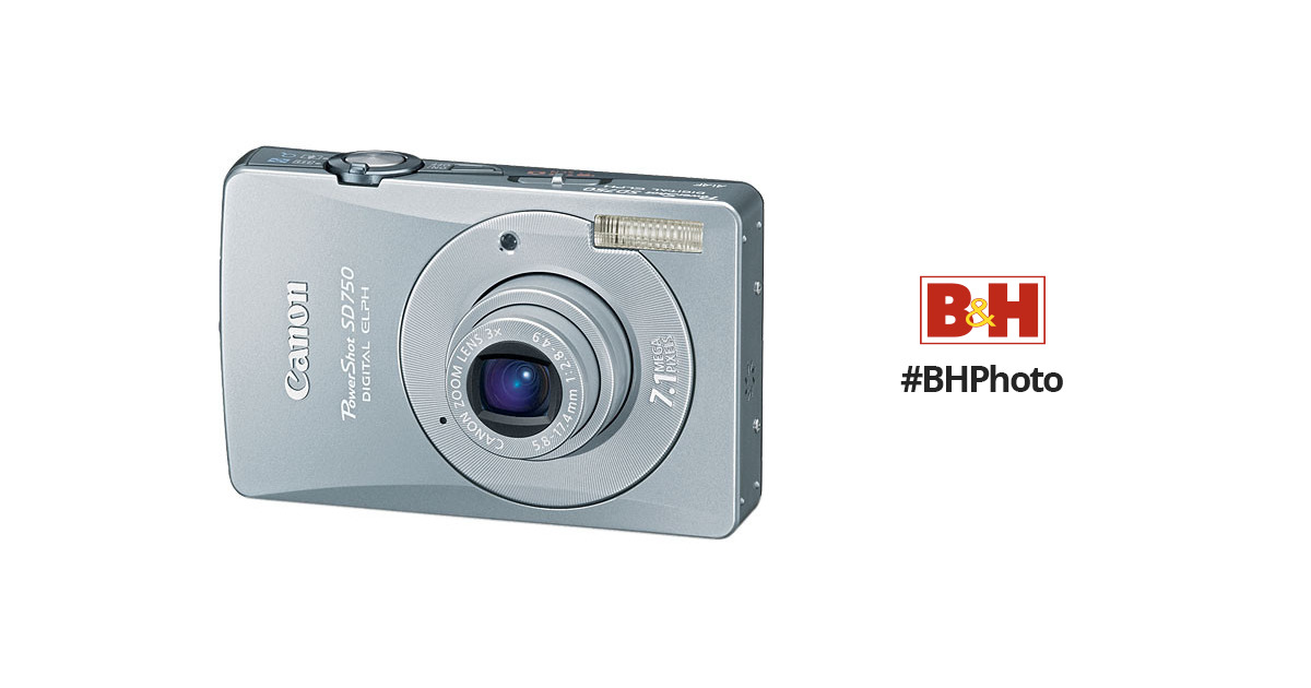 canon powershot sd750 digital elph digital camera 2239b001 b h rh bhphotovideo com Canon PowerShot SD1100 Is Canon Cameras