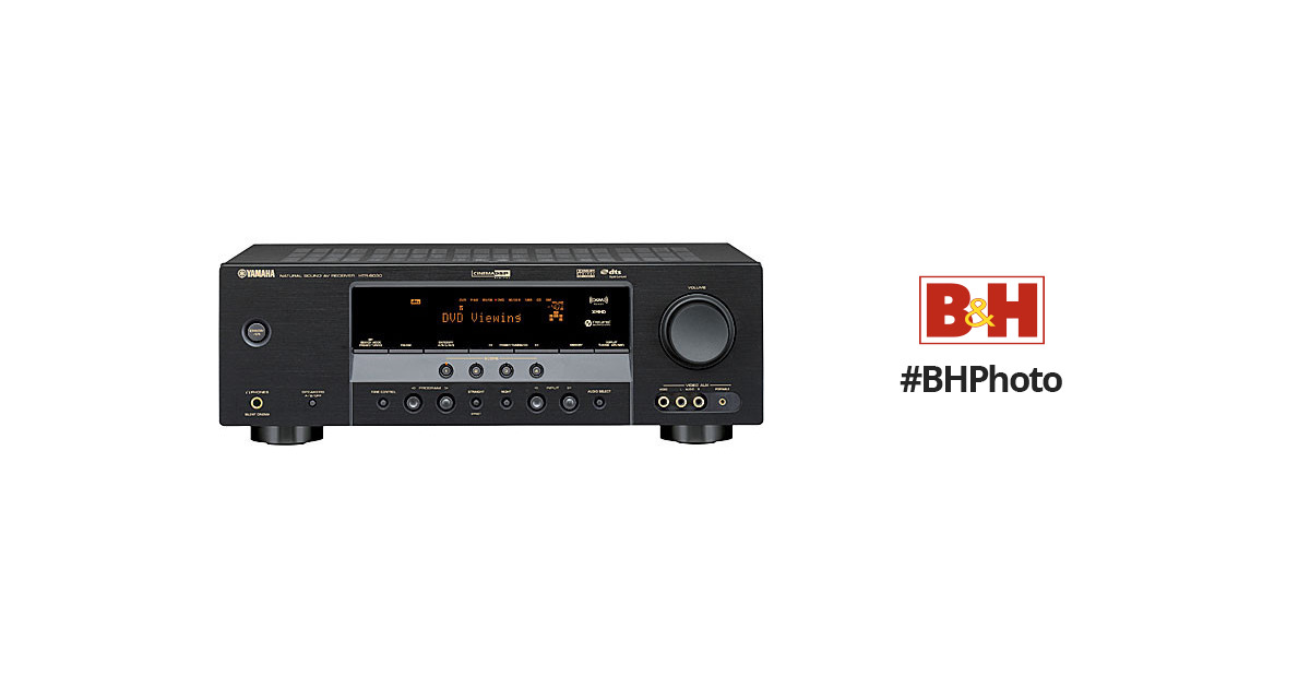 Yamaha HTR-6030BL 5 x 100W 5.1-Channel Digital Home Theater Receiver, on