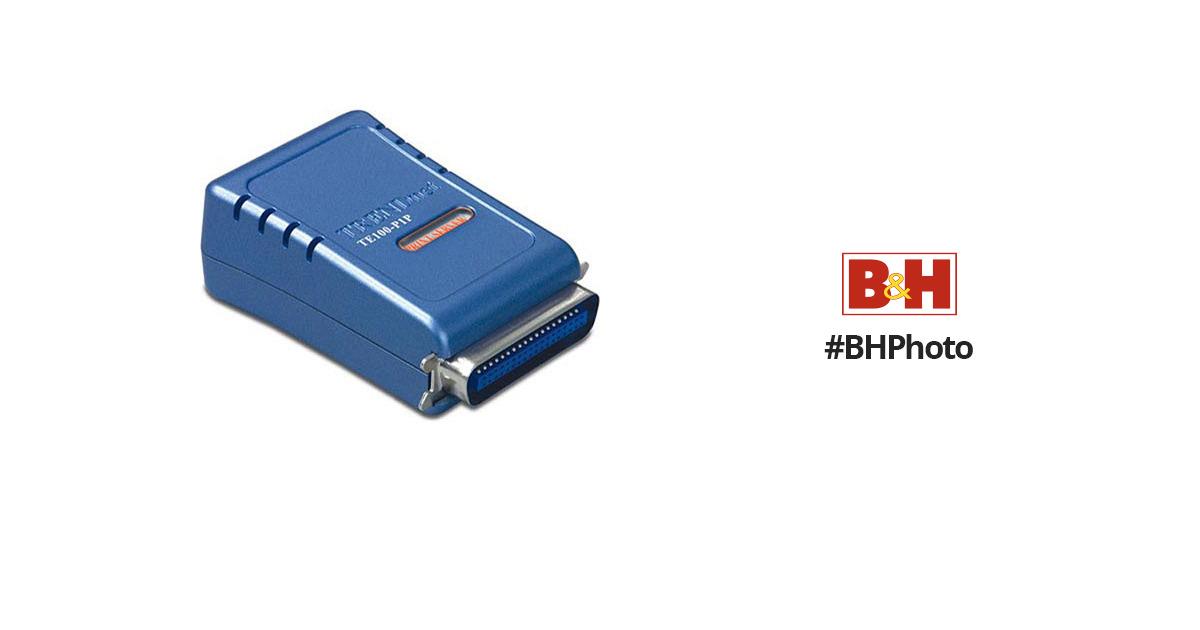 TRENDnet 1-Port 10/100 Mbps Parallel Print Server TE100-P1P B\u0026H