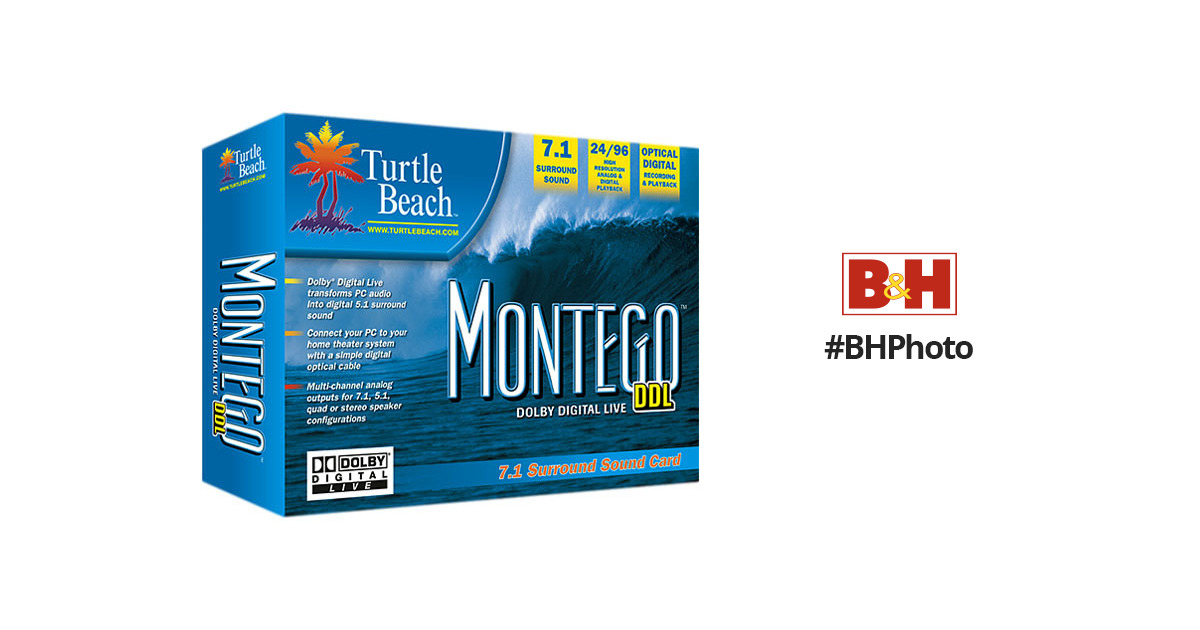 Turtle Beach Montego DDL 7 1 Sound Card