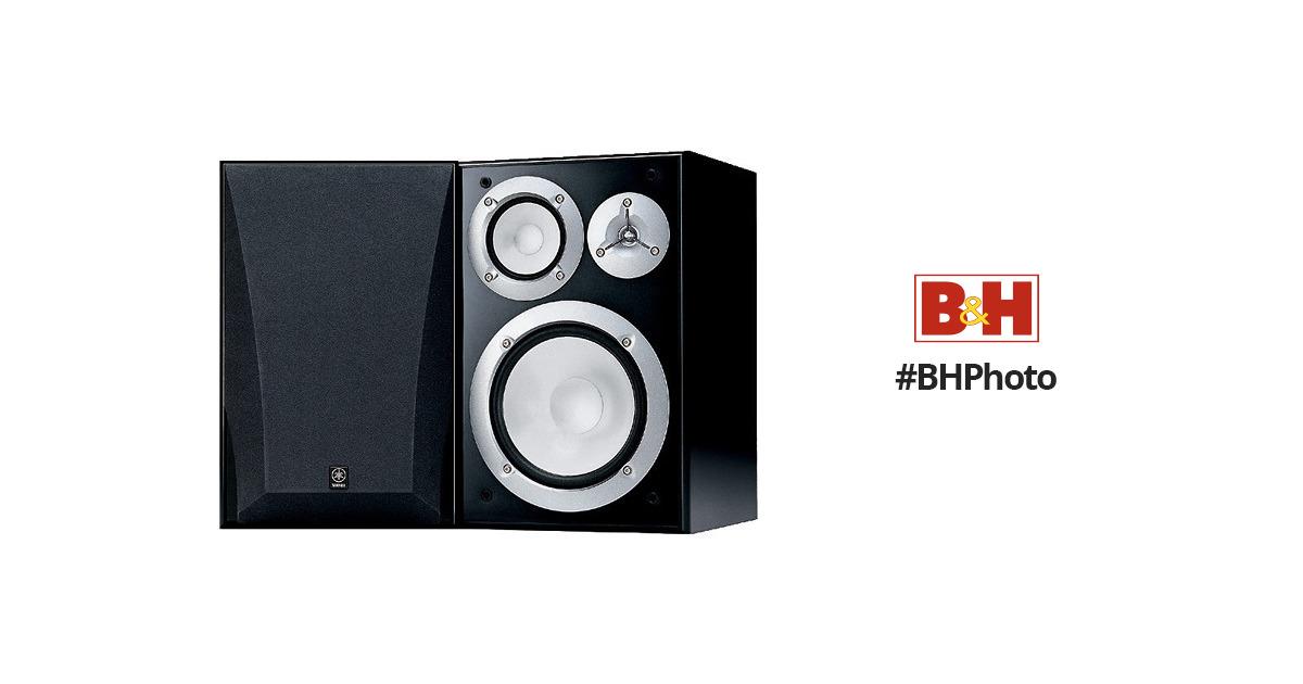Yamaha NS 6490 3 Way Bookshelf Speakers Finish Pair Black Audio Best Christmas Gift