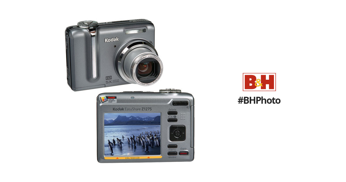 kodak easyshare z1275 zoom digital camera 1679109 b h photo rh bhphotovideo com Kodak EasyShare Gallery kodak easyshare z1275 instructions