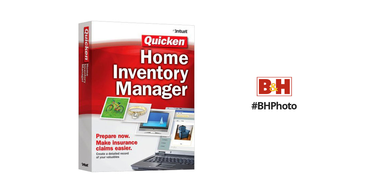 Intuit Quicken Home Inventory Manager Software for Windows