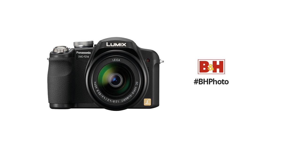 panasonic lumix dmc fz18 digital camera black dmc fz18k b h rh bhphotovideo com