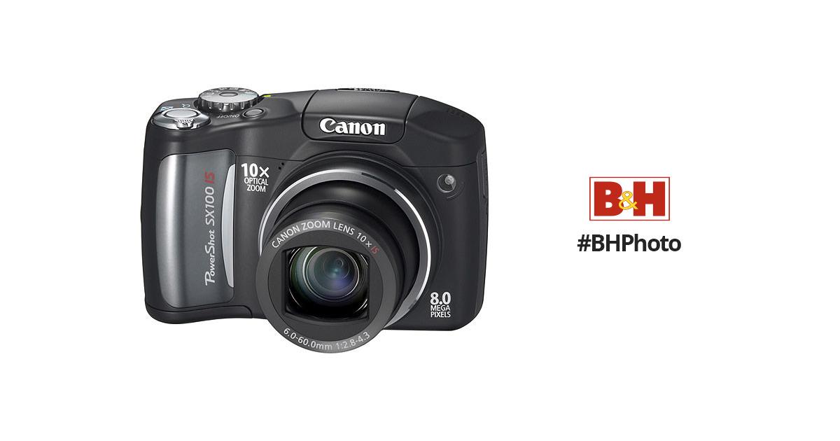 canon powershot sx100 is digital camera black 2420b001 b h rh bhphotovideo com Canon SX100 Is Digital Camera canon powershot sx100 user manual