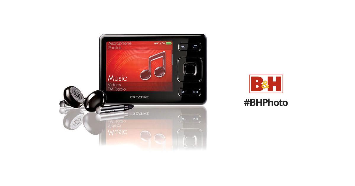 creative labs zen 16gb portable media player 70pf216100111 bh