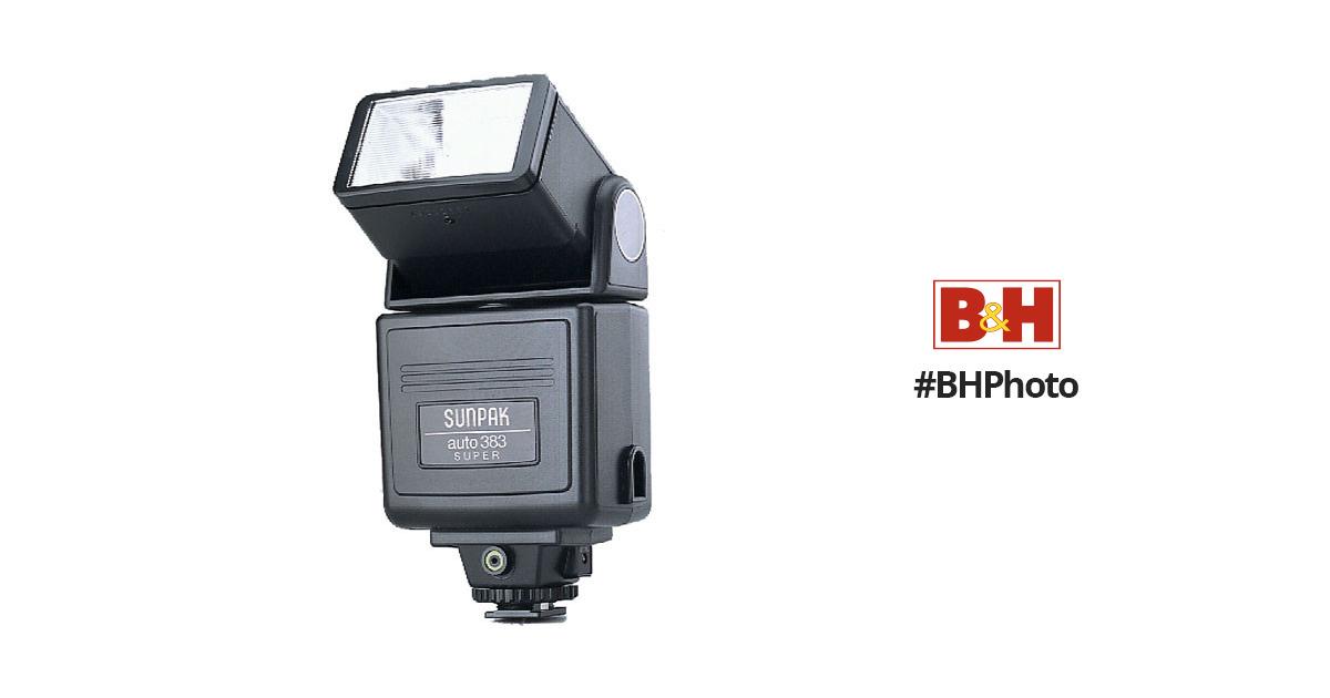 sunpak 383 super auto flash 0383 b h photo video rh bhphotovideo com