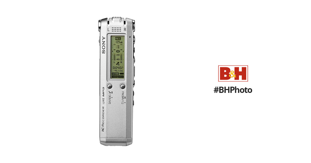 sony icd sx68 digital voice recorder 512mb icdsx68 b h photo rh bhphotovideo com IC Sony Recorder ICD -B500 Manual Sony IC Recorder ICD -BX112 Manual