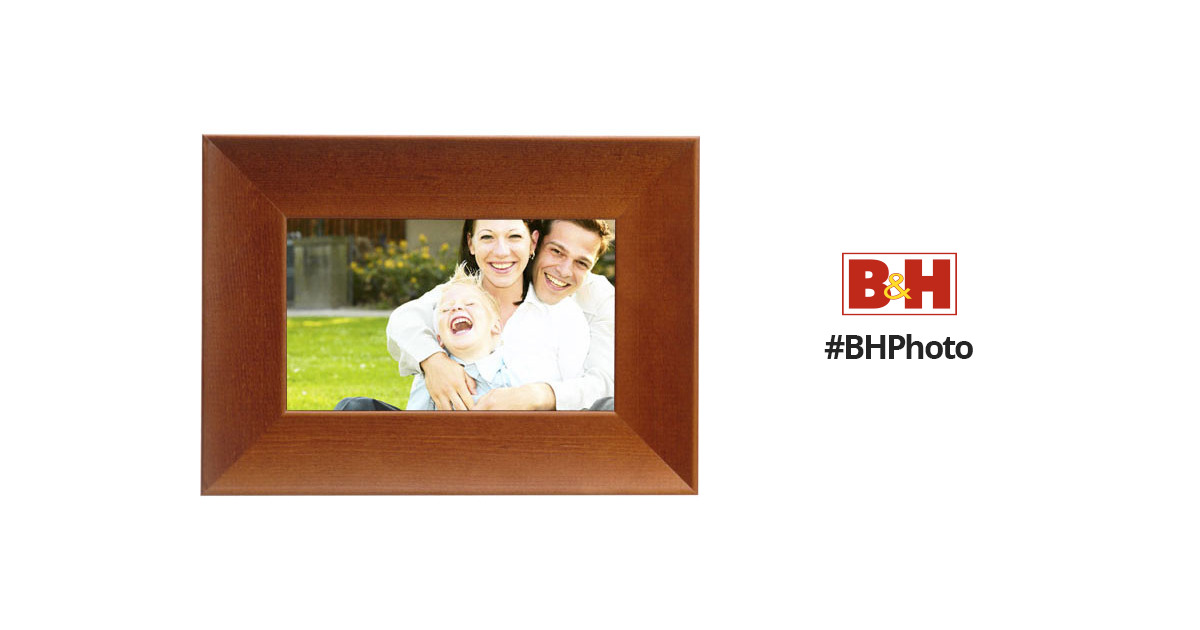 Smartparts 7 Digital Picture Frame Walnut Spdpf70ew Bh