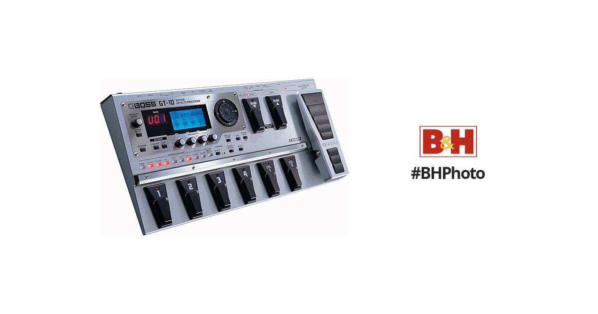 boss gt 10 guitar effects processor gt 10 b h photo video. Black Bedroom Furniture Sets. Home Design Ideas