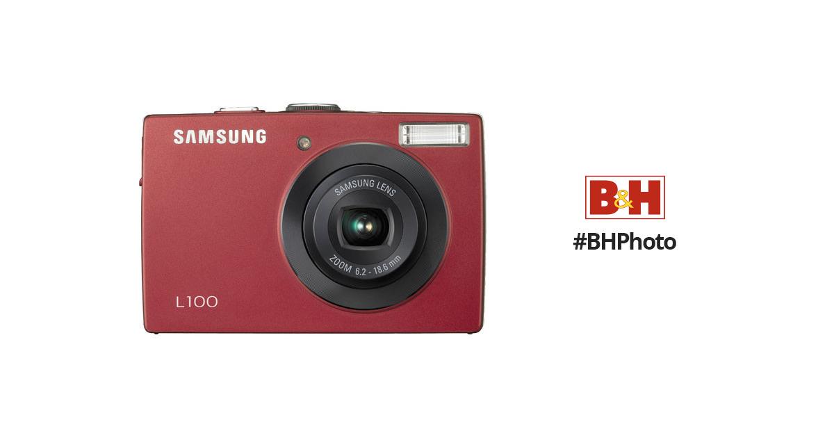 samsung l100 digital camera red ec l100zrba us b h photo video rh bhphotovideo com Memory Card Samsung L100 Memory Card Samsung L100