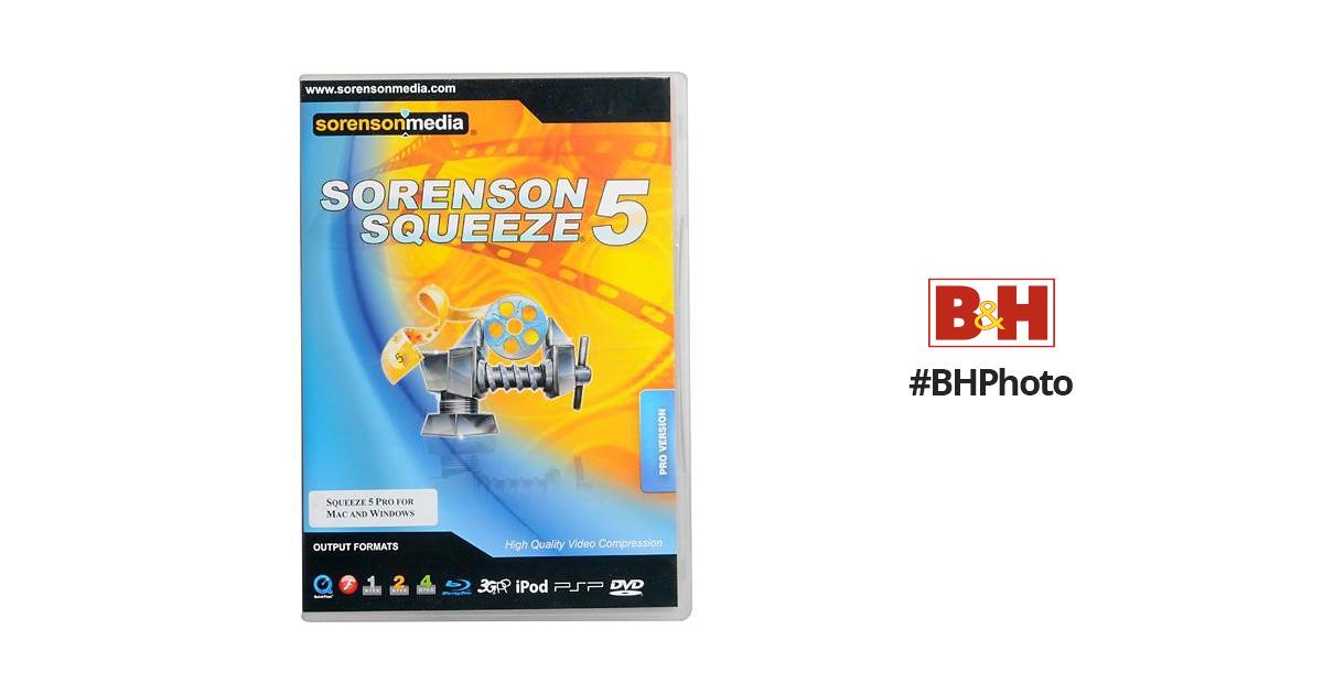 Sorenson Media Squeeze 5 Pro Video Compression Software Suite for Mac