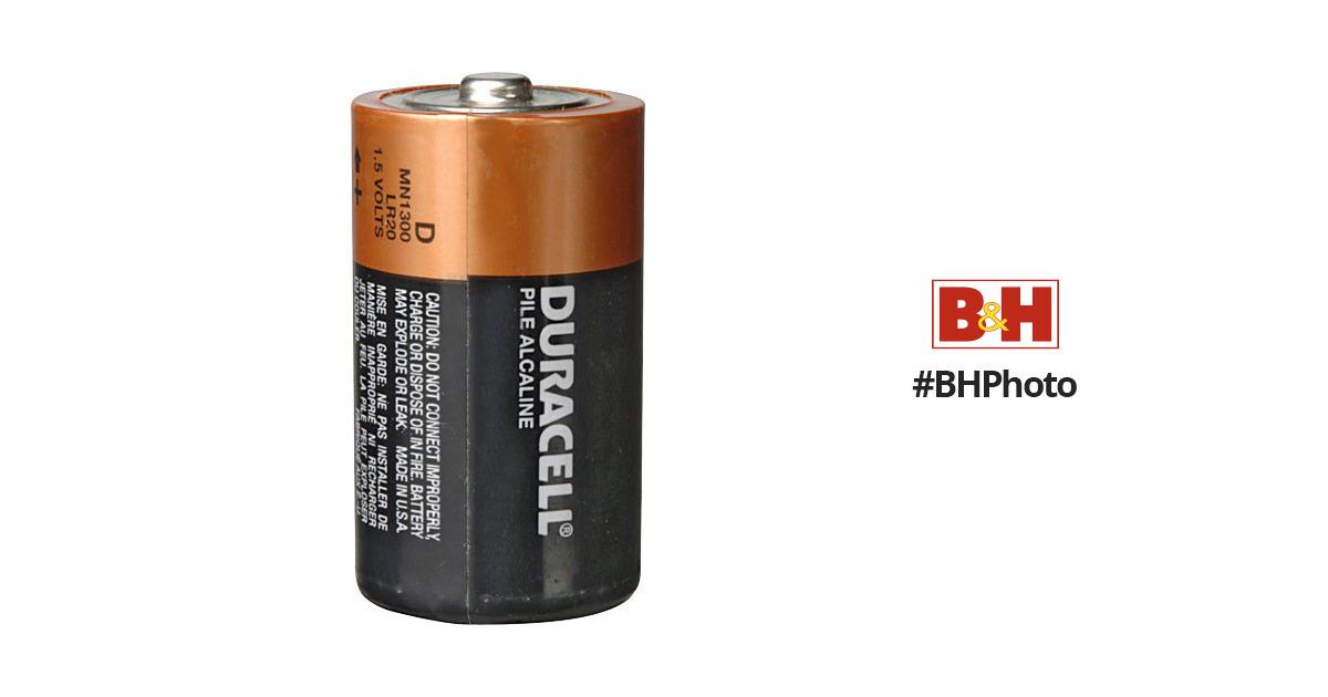 duracell d 1 5v alkaline coppertop battery 2 pack mn1300b2 b h