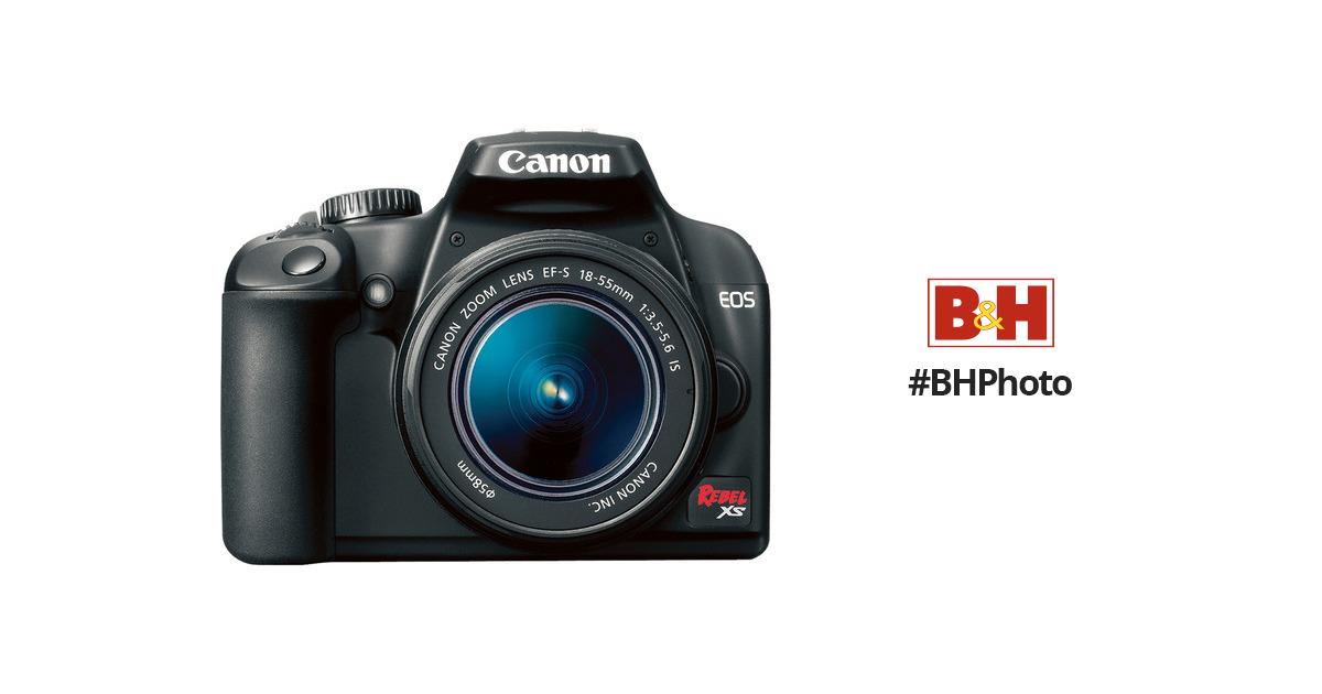 canon eos rebel xs slr digital camera black 2762b003 b h photo