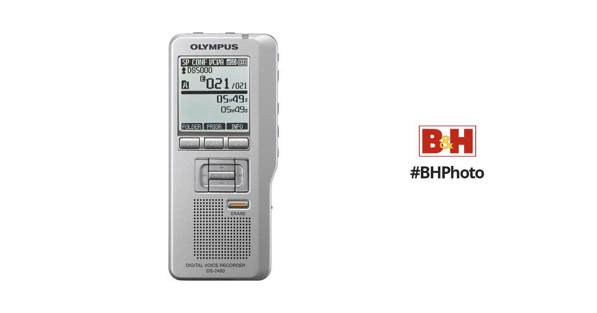 olympus ds 2400 digital voice recorder 142015 b h photo video rh bhphotovideo com