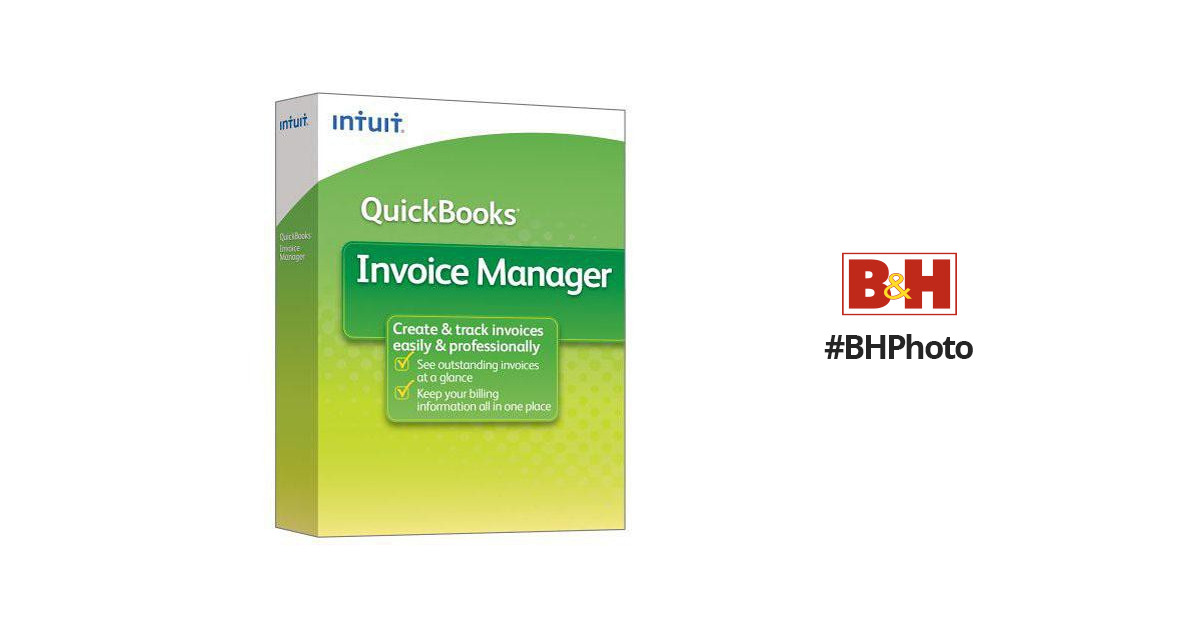 Intuit QuickBooks Invoice Manager 2009 Software 407646 B\u0026H Photo