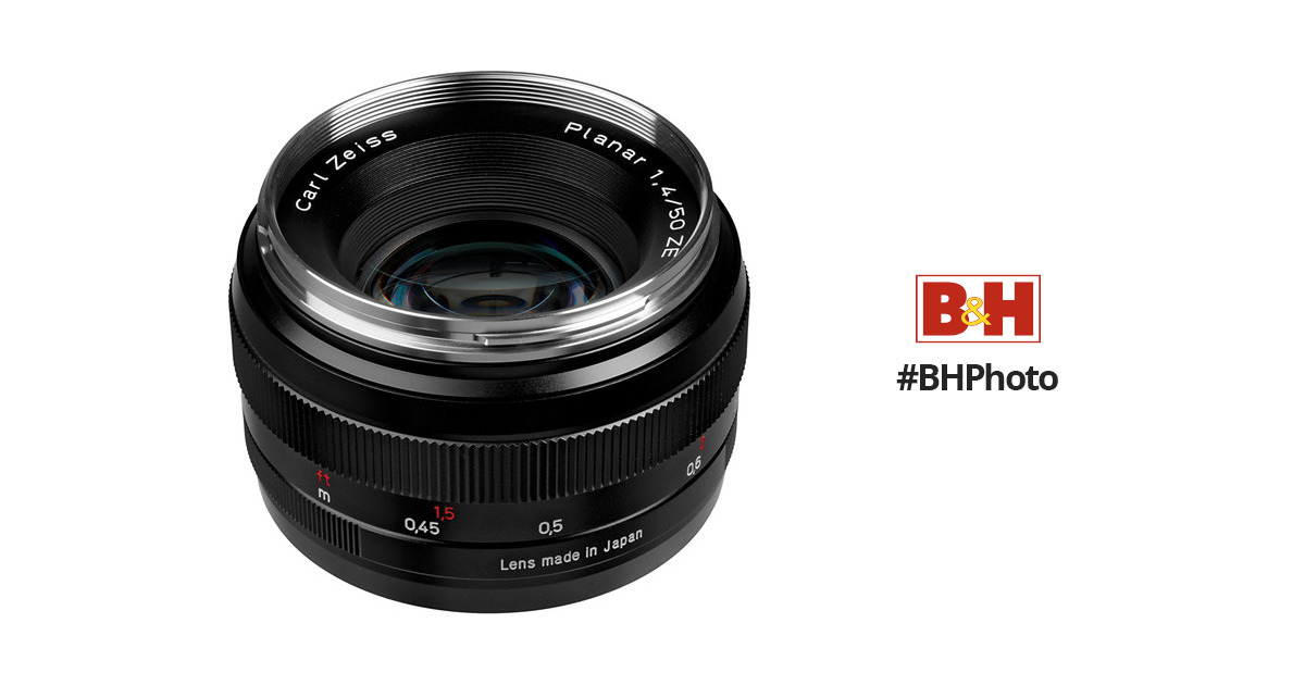 ZEISS Planar T  50mm f 1.4 ZE Lens for Canon EF 1677-817 B H 27b028a6f5
