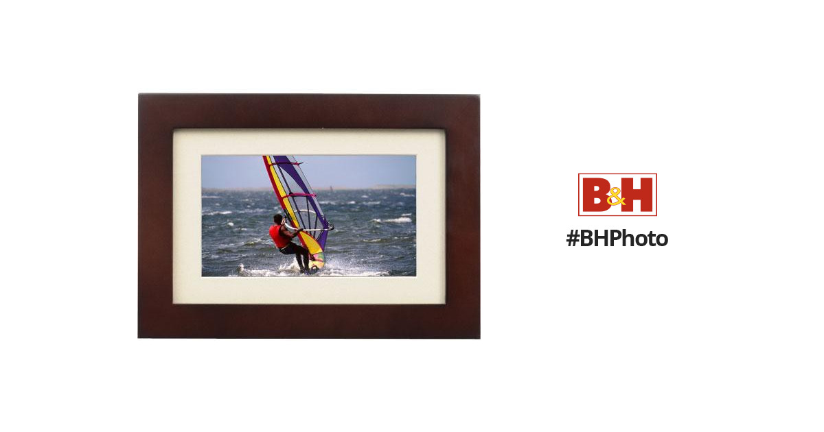 Smartparts 7 Digital Picture Frame Black Wood Sp700w Bh