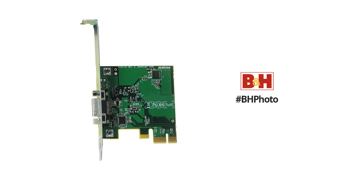 MATROX MXO2 PCIE HOST ADAPTER WINDOWS 7 DRIVER