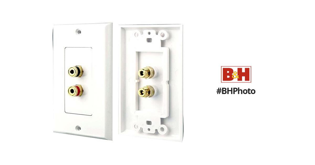 pyle pro phwp1 dual post  banana plug wall plate phwp1 b u0026h