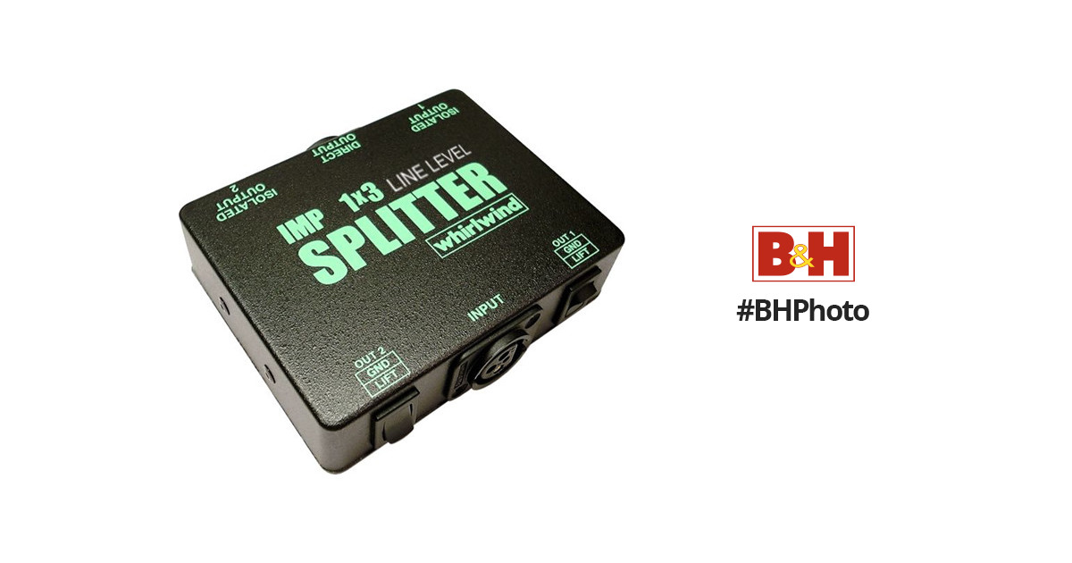 Whirlwind SP1X3LL 1x3 Line Level Splitter