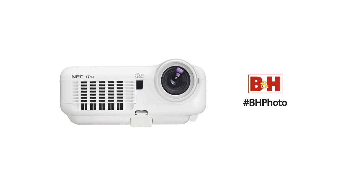 nec lt265 portable projector lt265 b h photo video rh bhphotovideo com nec lt265 user manual NEC LT380 Projector Manual PDF