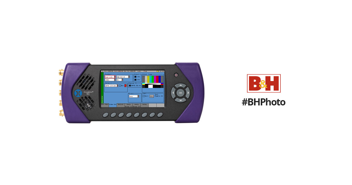 PHABRIX SxD 3 in 1 Generator/Analyzer/Monitor with Dual Link
