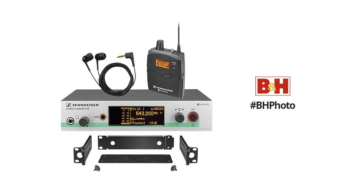 sennheiser ew 300 iem g3 wireless in ear monitoring ew300iemg3 b. Black Bedroom Furniture Sets. Home Design Ideas